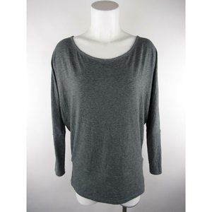 Lucy Solid Heather Scoop Neck Long T-Shirt Top